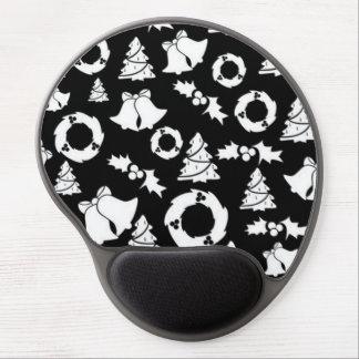 padrão com motivos de natal gel mouse pad