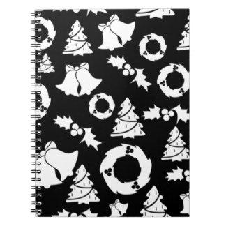 padrão com motivos de natal notebook