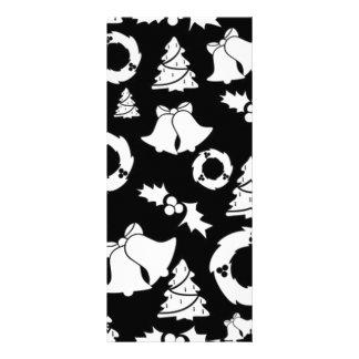 padrão com motivos de natal custom rack card