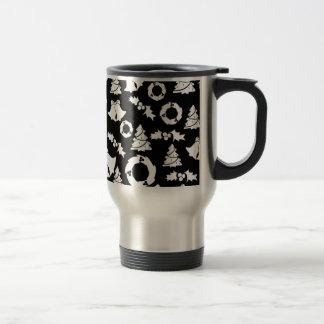 padrão com motivos de natal stainless steel travel mug