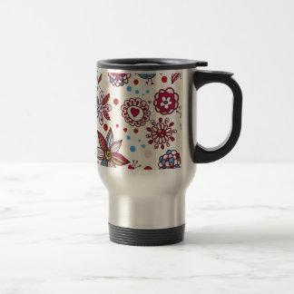 padrão com passaros e flores coffee mugs