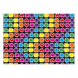 padrão com quadrados em zig zag coloridos pack of chubby business cards
