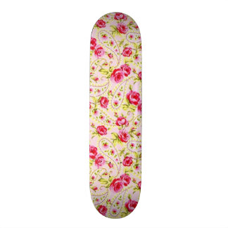 padrão com rosas skate decks