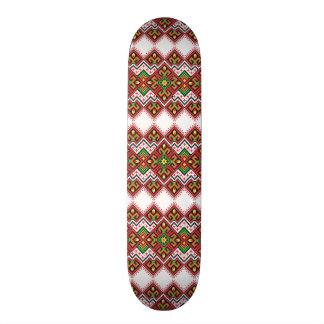padrão com tipo bordado skate