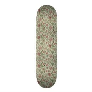padrão de flores e folhas skate
