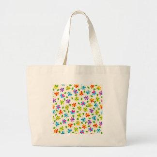 padrão de florinhas tote bag