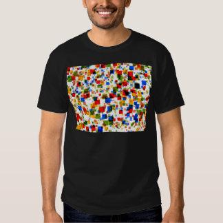 padrão de quadradinhos coloridos tee shirts