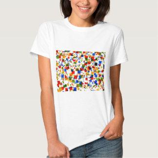 padrão de quadradinhos coloridos tees