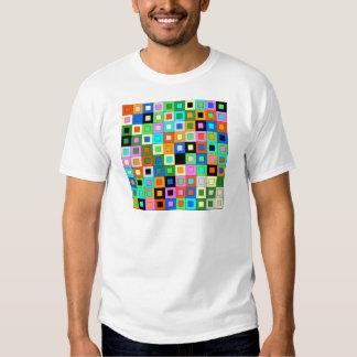 padrão de quadrados coloridos tees