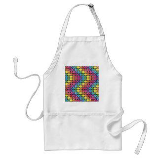padrão em zig zag colorido standard apron