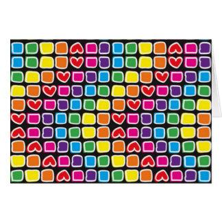 padrão em zig zag colorido card