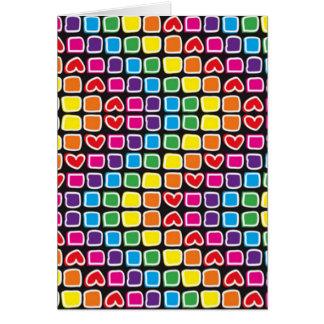 padrão em zig zag colorido cards