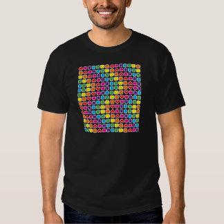 padrão em zig zag colorido shirts