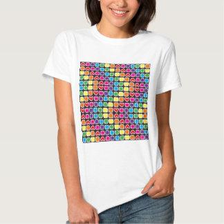 padrão em zig zag colorido t shirt