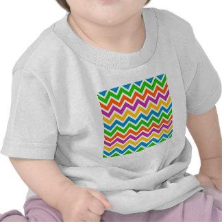 padrão em zig zag t-shirt