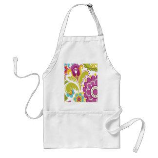 padrão floral bonito apron