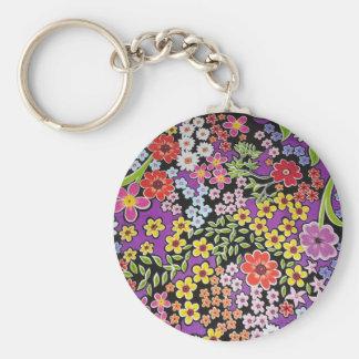 padrão floral bonito keychain