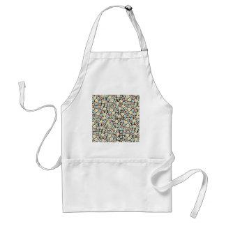 padrão floral branco adult apron