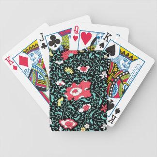 padrão flores vermelhas deck of cards