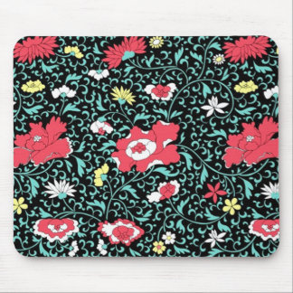 padrão flores vermelhas mouse pad