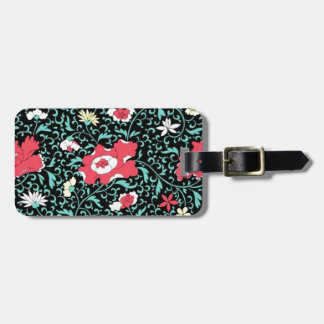 padrão flores vermelhas tag for luggage