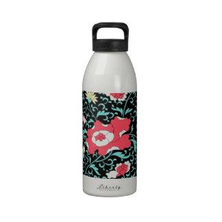 padrão flores vermelhas water bottle