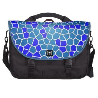 padrão tipo mosaico laptop messenger bag