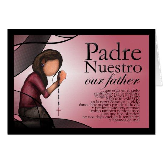 """Padre Nuestro"" Greeting Card"