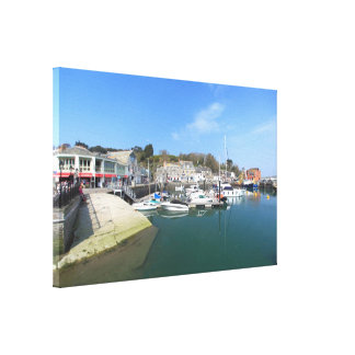 Padstow in Cornwall Wrapped Canvas