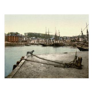 Padstow Quay, Cornwall, England c.1895 Postcard