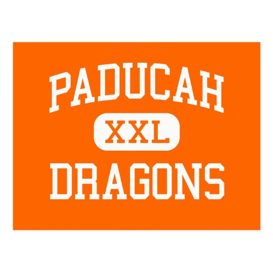 Paducah - Dragons - High School - Paducah Texas Postcard