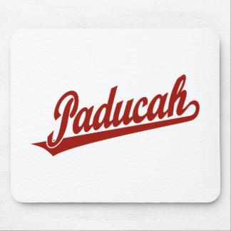 Paducah script logo in red mousepad