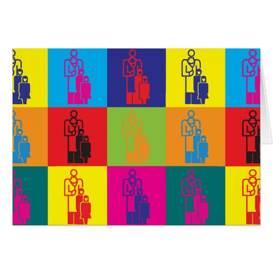 Paediatrics Pop Art Card