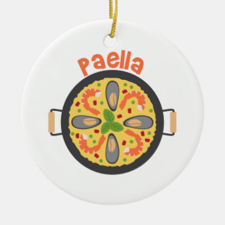 Paella Christmas Ornament