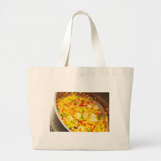 Paella dish large tote bag