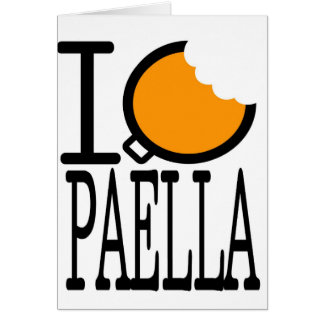paella passion greeting card
