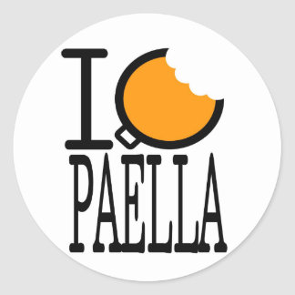 paella passion round stickers