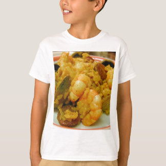 Paella Shrimp Clams Sausages Rice T-Shirt