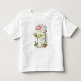 Paeonia or Peony, and Orchis myanthos Toddler T-Shirt