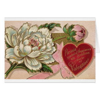 Paeonia Symbol of Happiness Greeting Card