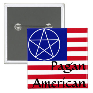 Pagan American 15 Cm Square Badge