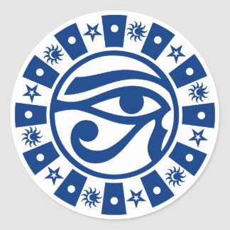 Pagan Ancient Egyptian Eye of Horus Occult Symbol Classic Round Sticker