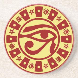 Pagan Ancient Egyptian Eye of Horus Occult Symbol Coaster