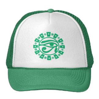 Pagan Ancient Egyptian Eye of Horus Occult Symbol Mesh Hats