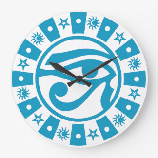 Pagan Ancient Egyptian Eye of Horus Occult Symbol Large Clock