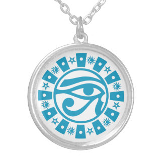 Pagan Ancient Egyptian Eye of Horus Occult Symbol Silver Plated Necklace