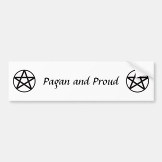 Pagan and Proud Bumper Sticker