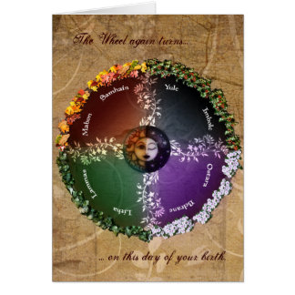 Pagan Birthday Greeting Card