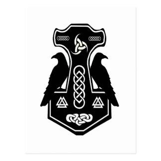 Pagan Celtic Norse Thor's Hammer Postcard