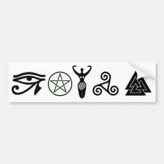Pagan Faiths Bumper Sticker